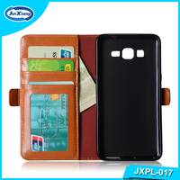 2016 popular flip wallet pu leather case for samsung