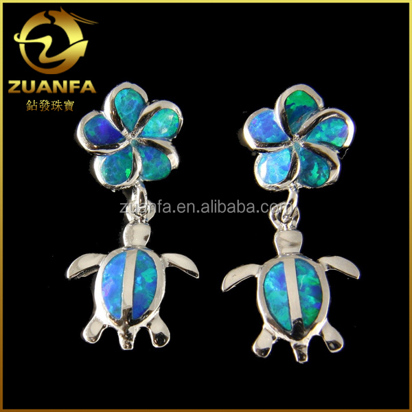 wholesale mexican fire opal turtle shaped solid silver opal jewelry