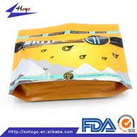 Food Grade Rice Packaging Plastic Bag/ Stand Up Flat Bottom Rice Bag