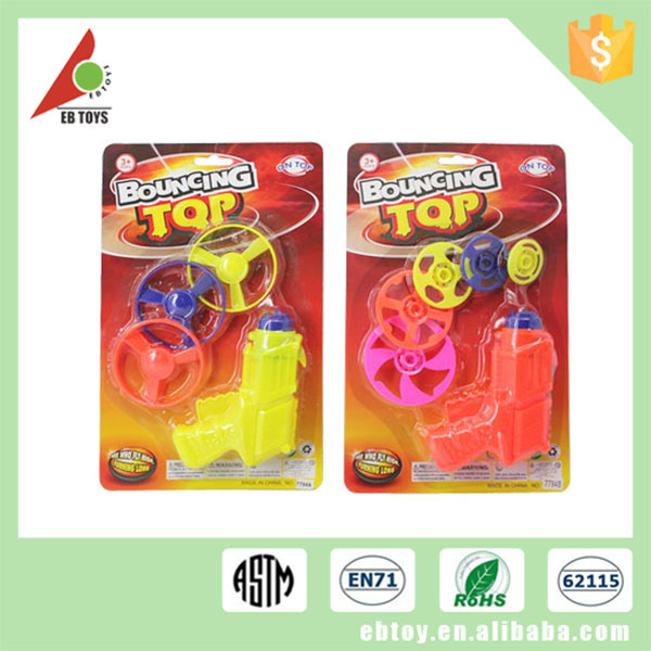 Wholesale hot item children funny spinning top plastic toy guns