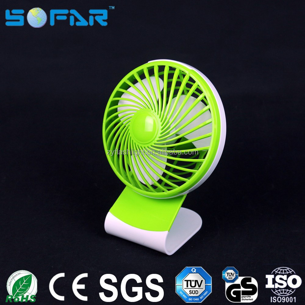 Portable clip desk fan plastic rechargeable DC 5V 5W high powered mini usb fan