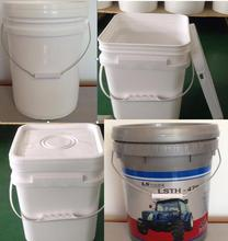 10L square milk / beverage/olive oil plastic barrels/ bottles with plastic and moulding cap