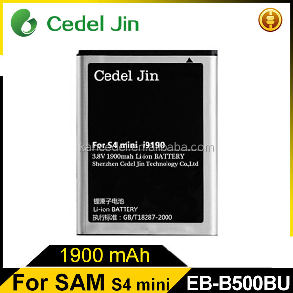 3.8V lithium ion battery B500BE for Samsung i9192/i9198/Galaxy S4 Mini/i9190/i9195 mobile phone