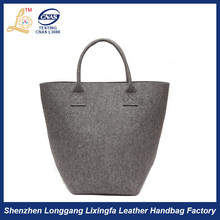 High Quality ladies new design Wool felt tote bag,wholesale wool felted bags
