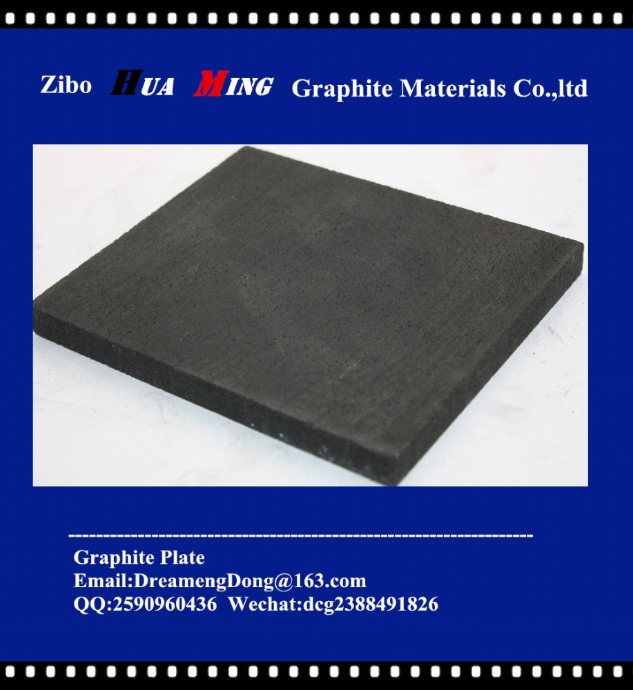 Pure graphite carbon plate used for electrode