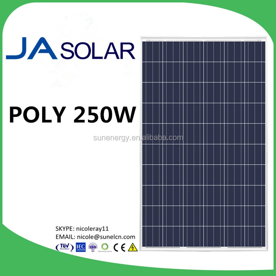 JA SOLAR 250W 3BB crystalline silicon photovoltaic modules