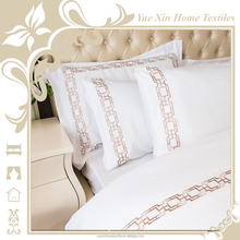 Peach skin embroidery design bed sheet sets pictures