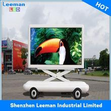 outdoor video billboard for truck solar panel lamp car bus street school led signs