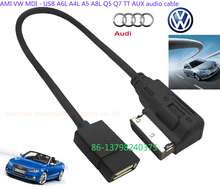 Mobile Phones MP3 Tablet USB Flash Drives Audio Music Interface AMI MMI AUX USB Cable For Audi S4 A5 S5 A6 S6 A7 A8 Q5