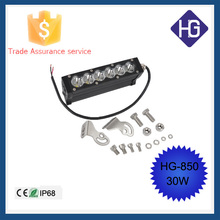 2015 top selling 12V 7inch 4x4 offroad led light bar cover 30W amber led light bar