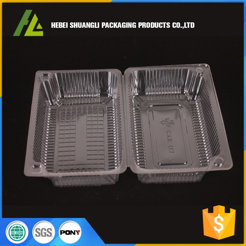 wholesale clear round plastic cake box packaging for cookies