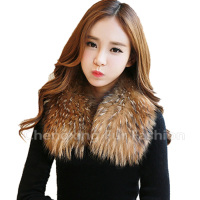 COLLAR-R2 Fashionable Cheap Wholesale Genuine Rabbit Raccoon Real Fur Collars