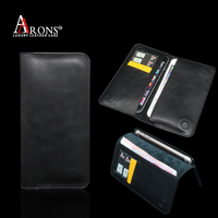 real cow leather black wallet leather case for iphone 6s