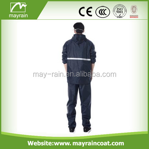 polyester/pvc reflective rainsuit