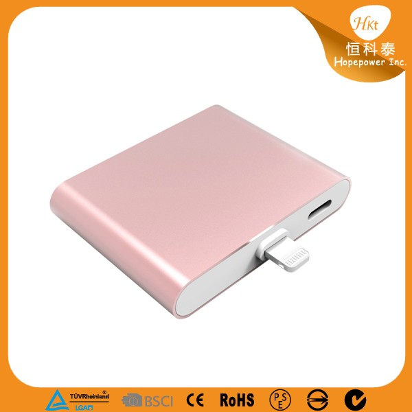 Rohs mini power bank aluminum case portable charger for iphone X battery charger
