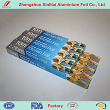 Kitchen use Free Sample silver density of aluminum household foil