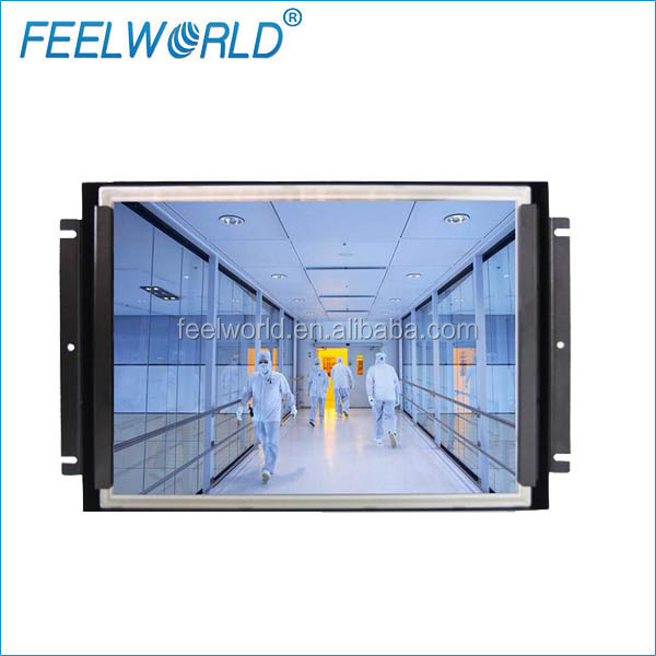 "Feelworld 15"" high brightness 1000cd/m2 1024*768 industrial open frame display monitor with vga hdmi dvi inputs"