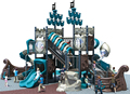 Kaiqi Hot selling plastic outdoor playground pirate ship series water game KQ60025A