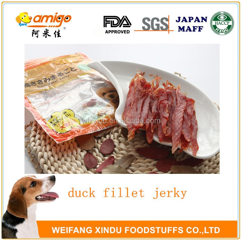 Natural Delicious duck fillet jerky dog snack dog treat dog food