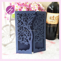 Sell Well Laser Cut Card/Luxury Wedding Card/Personalized Wedding Invitation Card with tree door design most popular cards