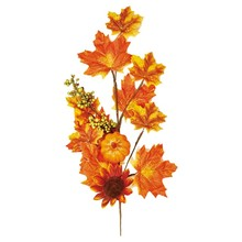 24 inch Home decor Artificial Sunflower Maple Leaf and Pumpkin Spray
