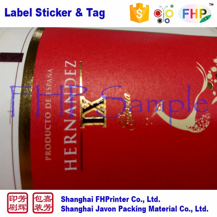 Top grade hot sale brand design label sticker wine logo