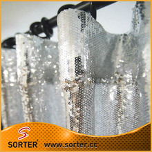 Polyester Fabric Sheer Sequin Curtains And Valances