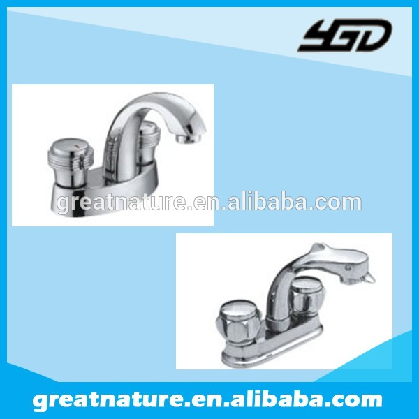 Double handle wash basin faucets made in China