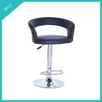 contemporary adjustable footrest PU bar height stool
