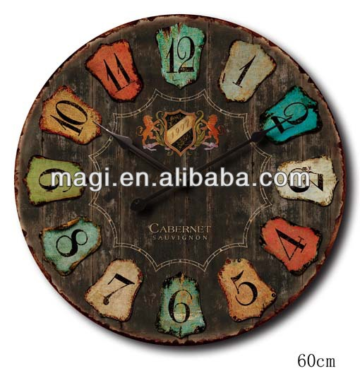 2013 Popular Antique Color Numbers Wall Clock