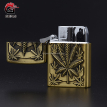 2017 New Retro Design Gold And Silver Cigarette Electric Refill Gas Lighter