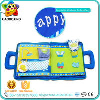 Non-toxic educational baby soft plastic cloth book toy for sale