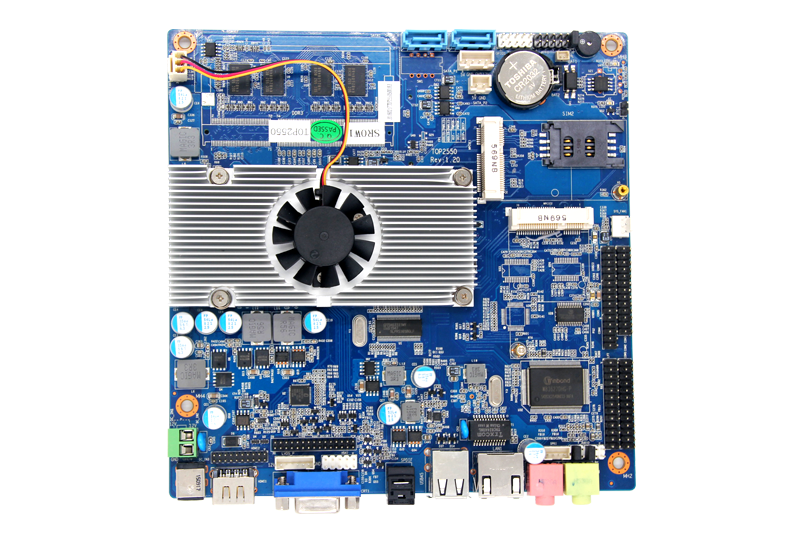 mini itx intel x86 board 1366 socket 24bits lvds LTP