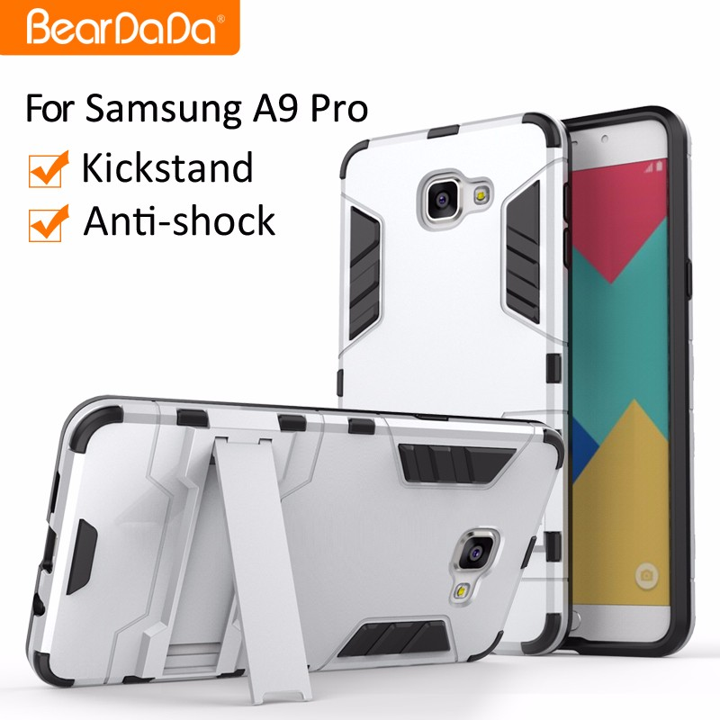 Anti shock kickstand phone case for samsung galaxy a9 pro (2016)
