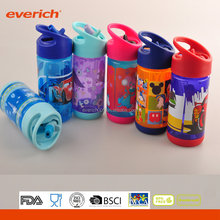 Everich 330m 500ml BPA FREE Plastic Kids Water Bottle With Straw