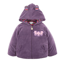OEM Service Child Clothes With Hooded Padding 80% Cotton 20% Polyester Children Girl Coat For Winter