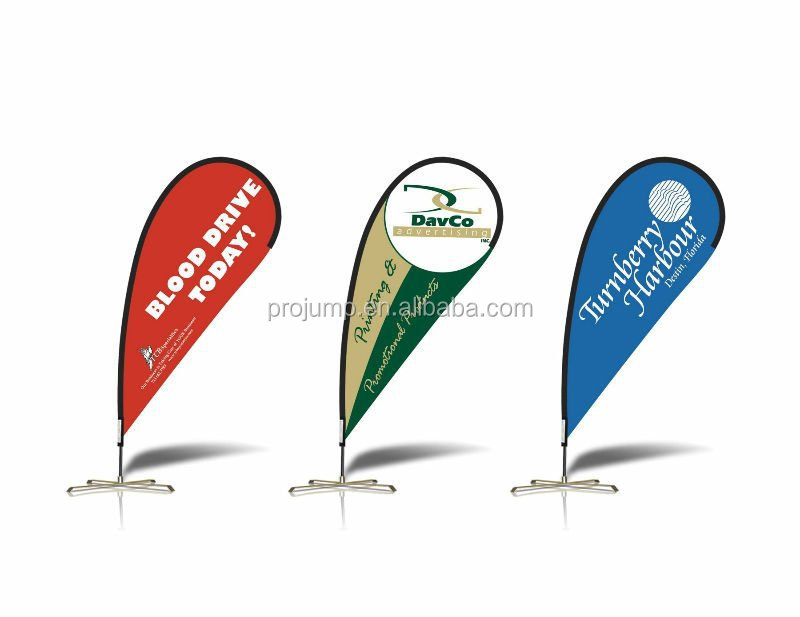 outdoor advertising teardrop flag
