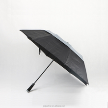 25 Inch Wholesale Double Layers 2 Folding Umbrellas