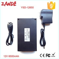 Portable lithium ion rechargeable 6500mah 12v battery pack for LED solar street lighting