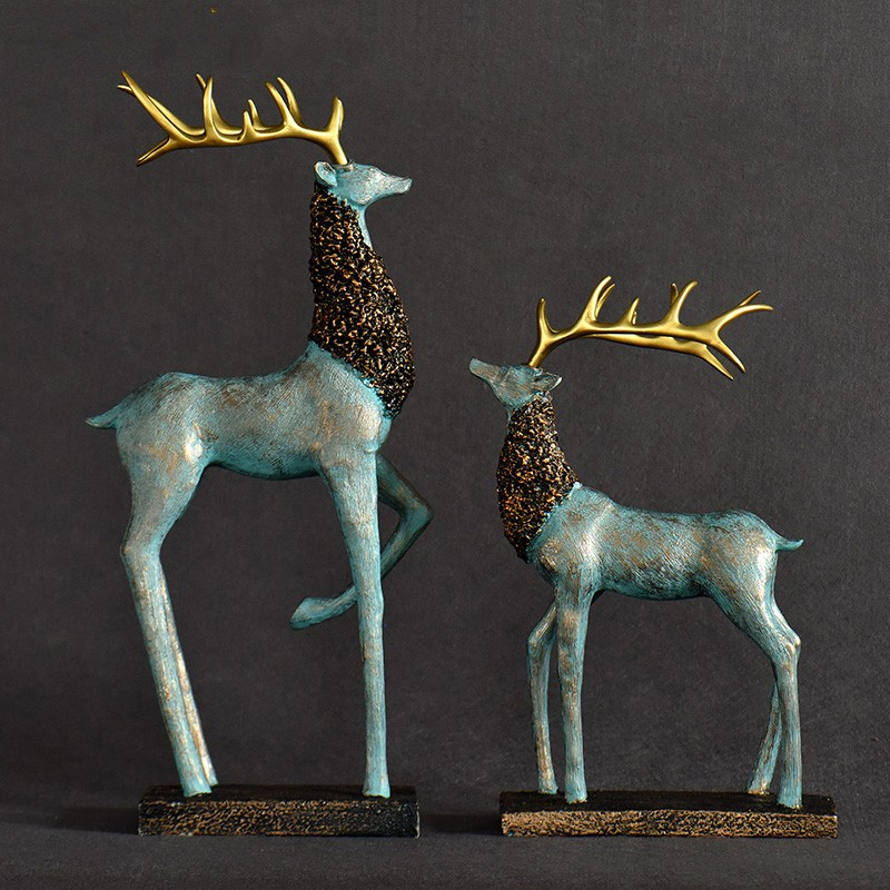 wholesale christmas decoration resin deer statues