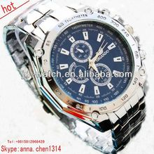 2013 new style geneva stainless steel case back water proof watch