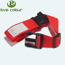 Custom soft polyester material breakaway buckle luggage name tag strap for promotion gift