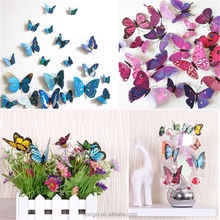 12pcs 3D Butterfly Sticker Design Decal Wall Mural Stickers Door Decals Decor Room Decorations Gift For Kids Rooms