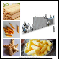 Single screw fried extruded food/pasta processing line/making machine