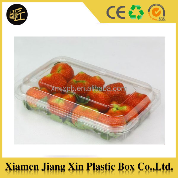 Disposable PET plastic box for fresh fruit and vegetable