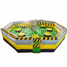 Inflatable Meltdown Sweeper Wipeout Games for Kids and Adult