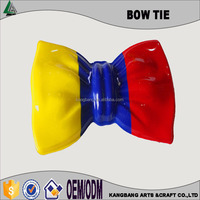 Neon plastic party bow tie for decoration Cheap Plastic Carnival Bow Tie/Brasil fans bow tie for world cup