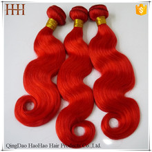 Fast shipping body wave 3 bundles red brazilian hair weave