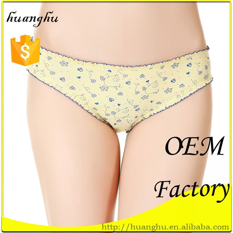 Invisible yellow breathable 100% cotton so-en panties