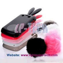 Tail Gel tpu bunny rabbit ear case rabbit case for blackberry